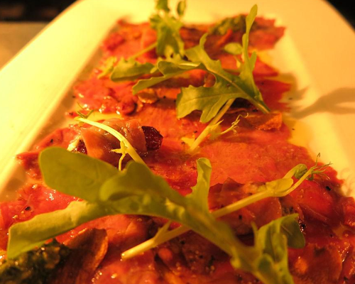 beef carpaccio | prego italian restaurant in perth