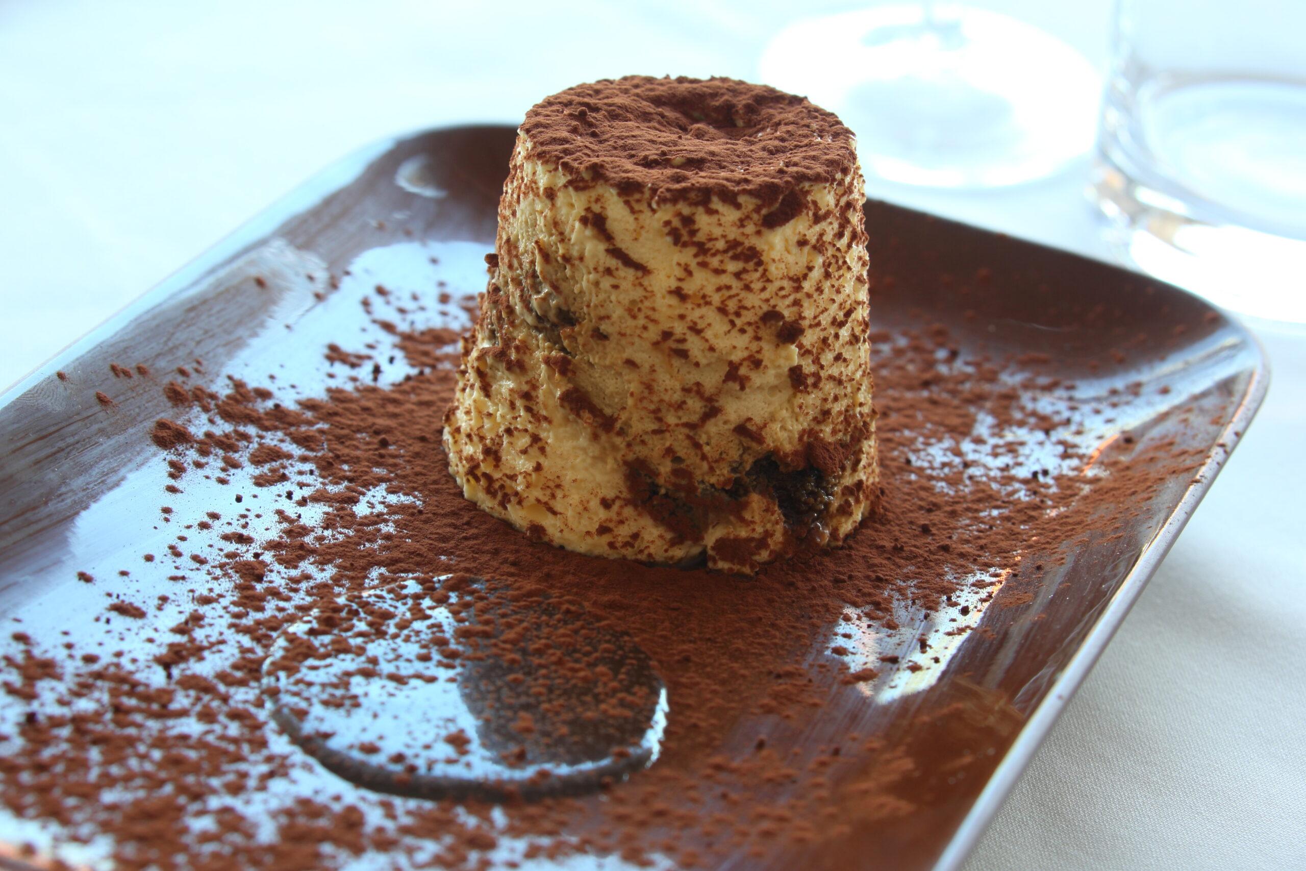 Tiramisu Traditional Italian desert with mascarpone cheese